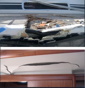 Sowohl das Deck als auch die innere Schalung waren schwer beschädigt.
