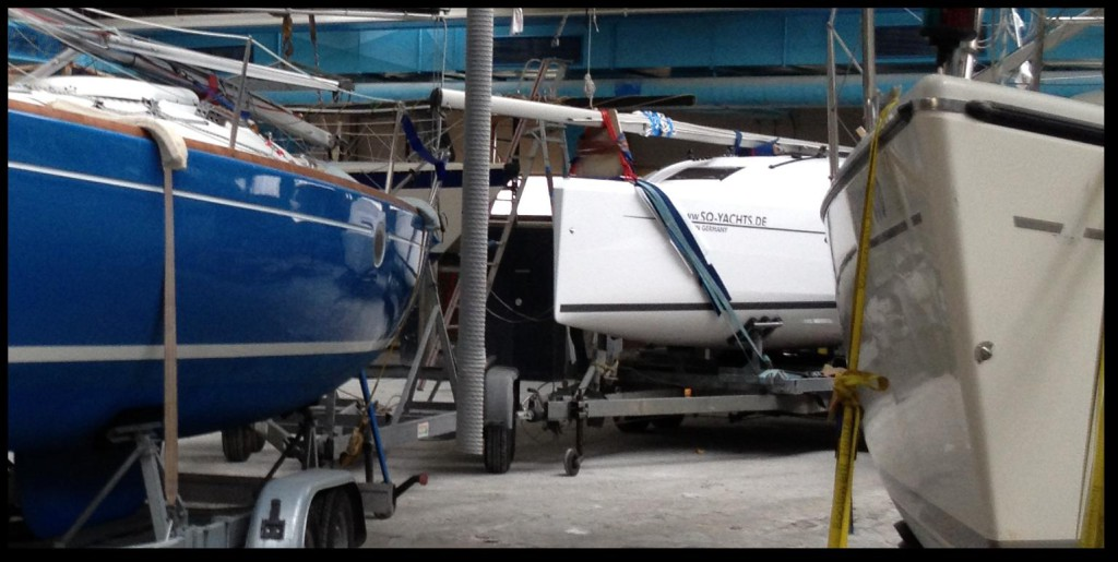 Stellplatz für Ihre Segelyacht / Segelboot